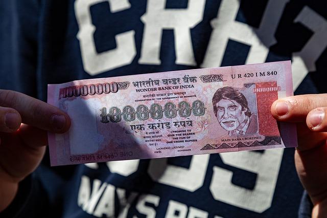 obrovská indická bankovka